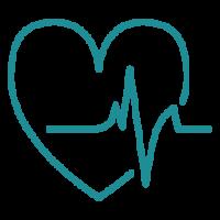 heart rhythm measurement green icon